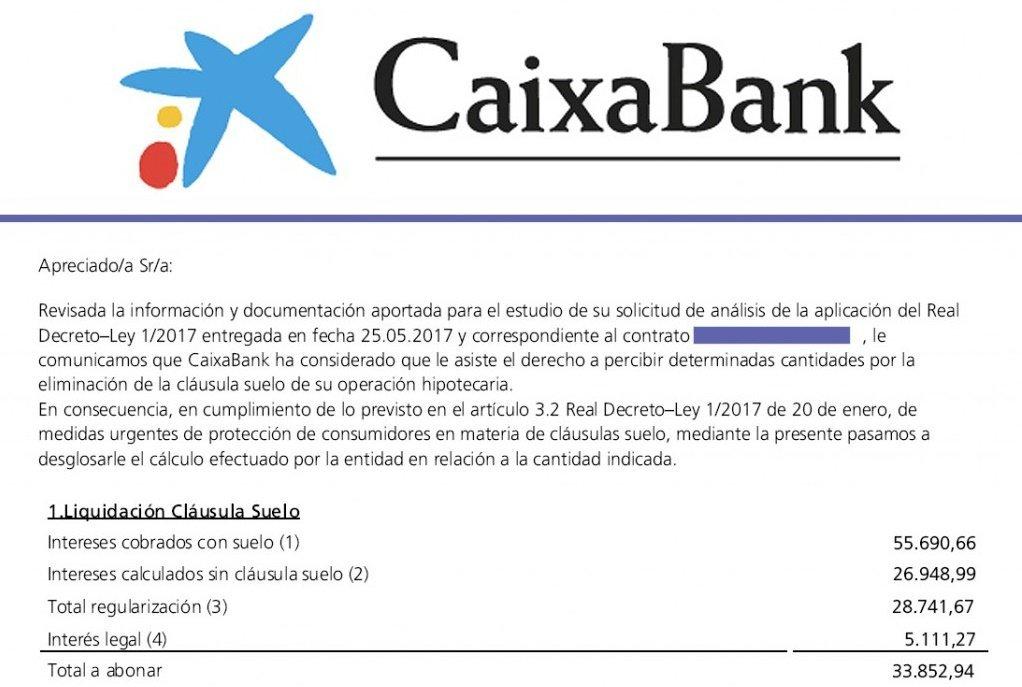 Eka asociaci n de personas consumidoras y usuarias for Clausula suelo caixabank